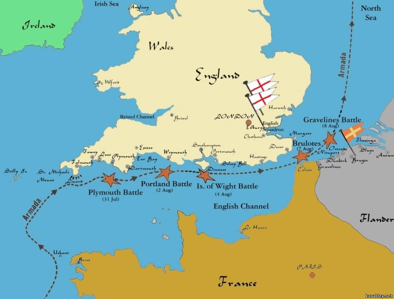 the battle of the spanish armada