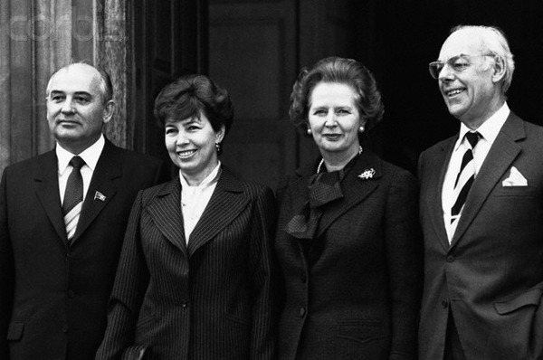 Thatcher, Gorbachev and Spouses, ca. 1985