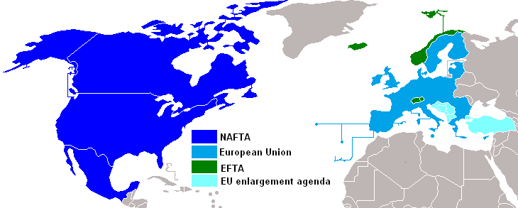 nafta and european union The american public is largely divided on its view of the north american free trade agreement european economic area european union.