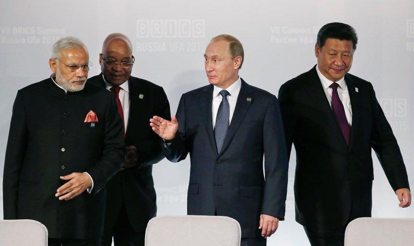 Vladimir Putin, Narendra Modi, Dilma Rousseff, Xi Jinping